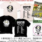 INSP 5th Anniversary Party 限定イベントTee発表!