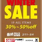 WINTER SALE!全商品30%~50%OFF(千葉市 レイズサーフ)