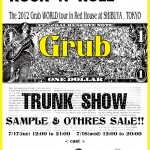 Grub World Tour Stage 3 ~TRUNK SHOW~ 開催決定!