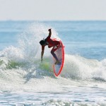 "STRETCH SURFBOARDS RIDER ""RED-Y"" NOSEPICK AIR REVERSE  シークエンス"