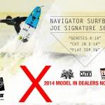 NAVIGATOR SURFBAORD オーダーサーフボード 年内納品のお知らせ