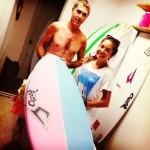 アリッサ・ウーテンのNew boards!(ジャスティスサーフボード)