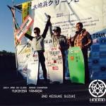 カルマBBウェットスーツライダー、JPBA DKクラス 2014年シーズンのリザルト